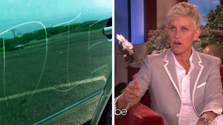 5a7d1b38e63eb  vandalism - Ellen Gives Away $50,000 To A Gay Collge Student And A Mechanic!