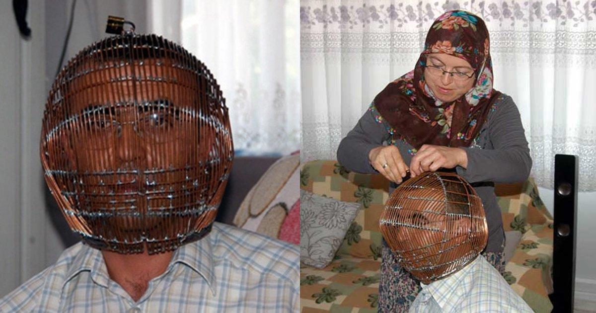 6 169.jpg?resize=300,169 - 매번 금연을 실패하는 남편에게 '얼굴 감옥' 씌워주는 아내