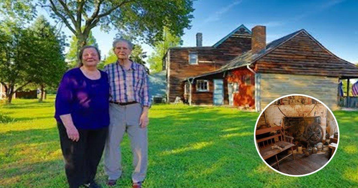 """77 2.jpg?resize=1200,630 - Un couple désir vendre la plus vieille maison en rondins des États-Unis : """"A l'intérieur, c'est un retour dans le passé"""""""