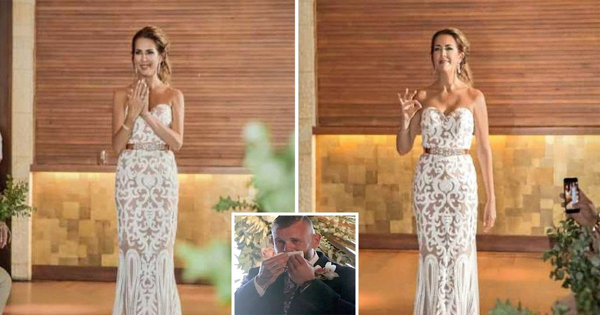 7ec8db8eb84ac 1 - Bride Surprises her Deaf Groom by Performing his Favorite Song in Sign Language