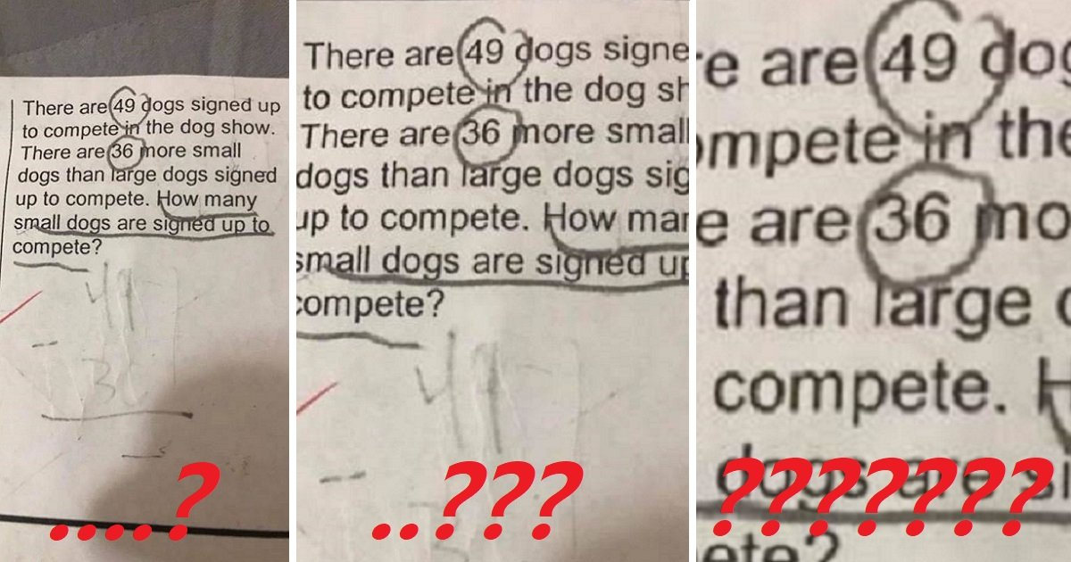 8fvjnk 1.jpg?resize=300,169 - Mom Shares 2nd Grader's Math Homework But Nobody Knows The Correct Answer