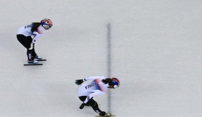 9bvex578kn4h08is7t5j - 넘어졌는데도 '올림픽 기록' 세운 소름 돋는 '여자 쇼트트랙 3000m 계주' 준결승전 (영상)