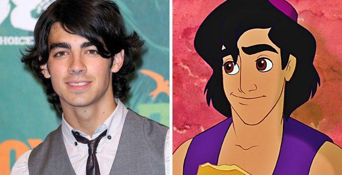 Joe Jonas parece com Aladdin