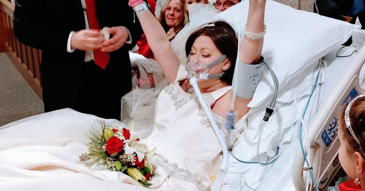 Heather Lindsay - Una pareja decide casarse aunque ella estaba a punto de morir de cáncer, 18 horas después él quedó viudo.