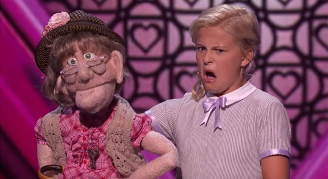 """americas got talent darci lynne - Chica de 12 años causa controversia con su muñeca """"anciana"""" en el programa """"America's Got Talent"""""""