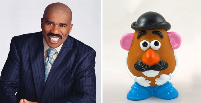 Steve Harvey parece que Mr. Potato Head