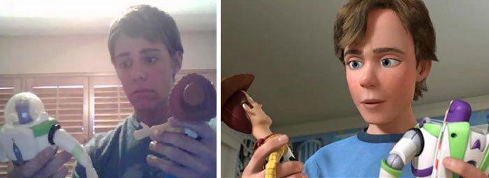Este garoto parece Andy de Toy Story