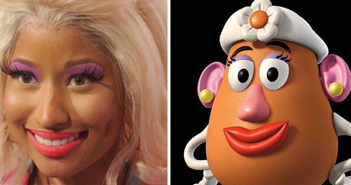 Nicky Minaj parece a Sra. Cabeça da batata