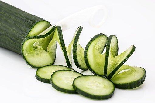 오이, 샐러드, 음식, 건강 한, 녹색, 신선한, 채식 주의자, 다이어트