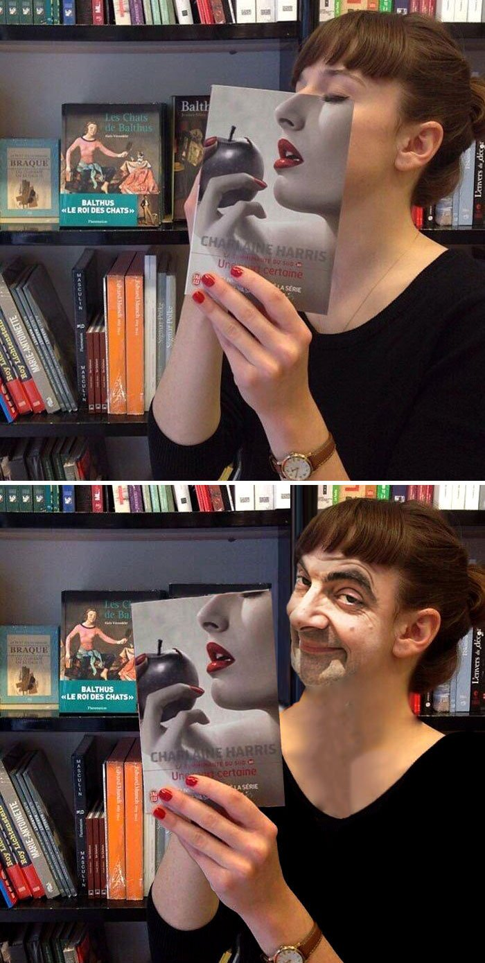 This Woman Lining Up With A Book Cover
