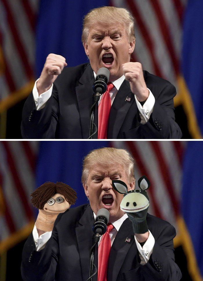 Donald Trump Angrily Making Two Fists