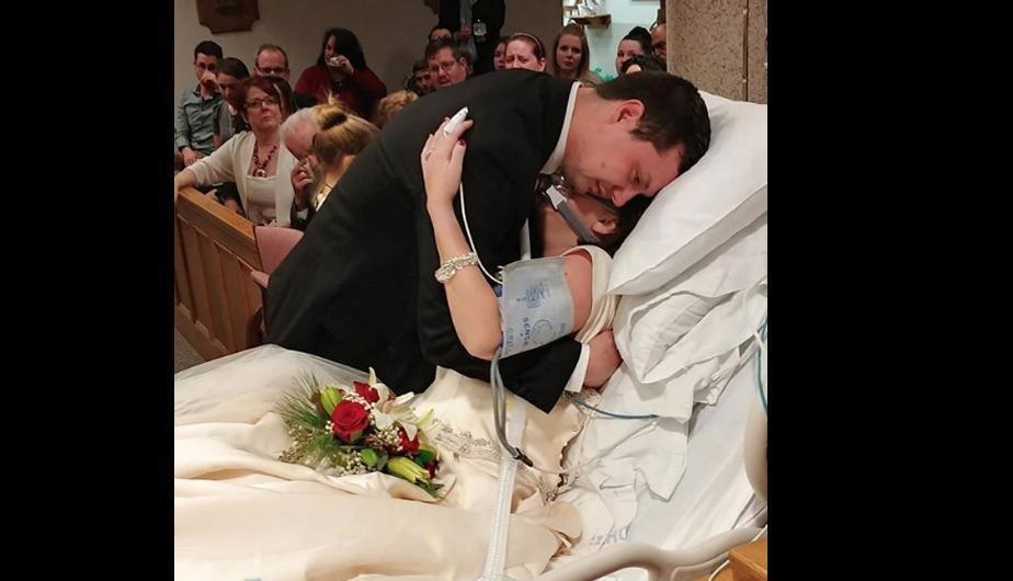 matrimonio - Una pareja decide casarse aunque ella estaba a punto de morir de cáncer, 18 horas después él quedó viudo.