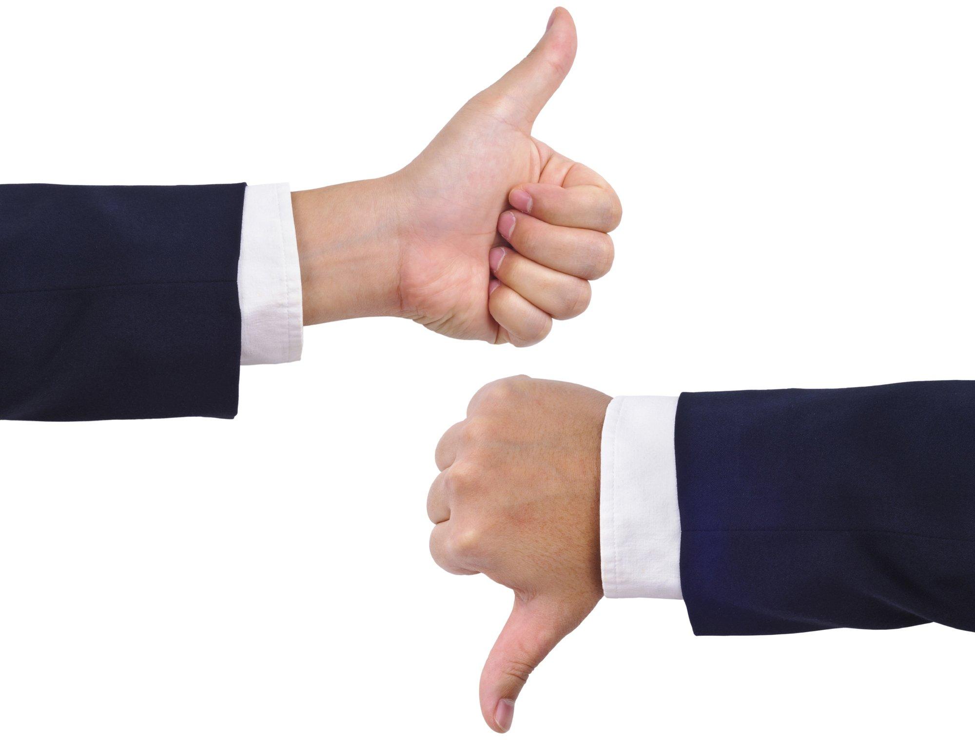 thumbs up thumbs down에 대한 이미지 검색결과