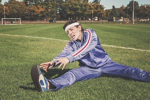 스트레칭, 스포츠, 여자, 선수, 적합, 건강 한, 운동, 연습, 젊은
