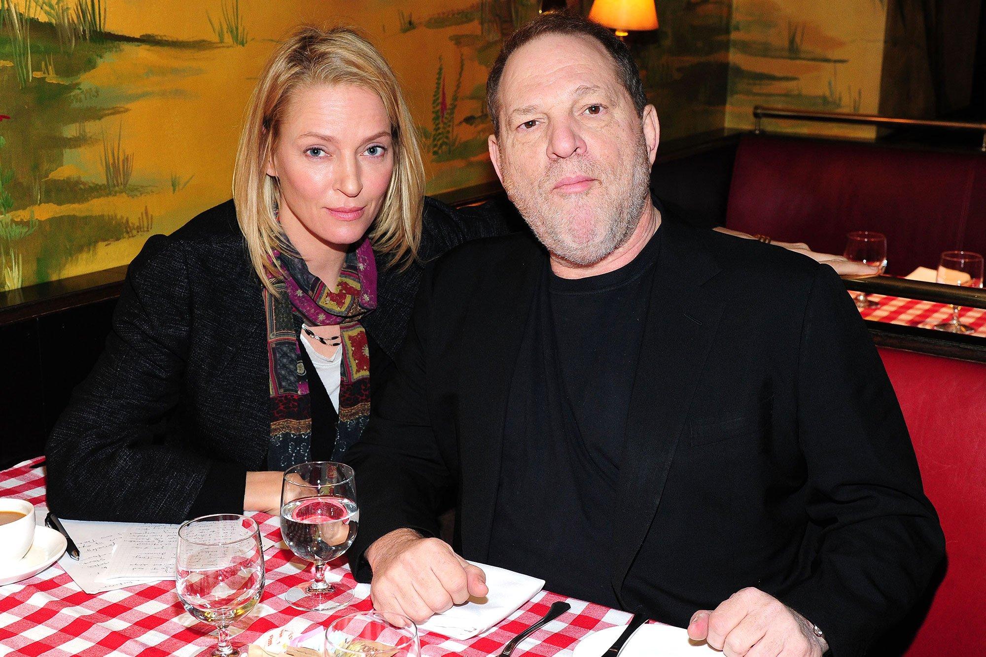 uma thurman b - Uma Thurman declaró cómo fue acosada sexualmente por el productor Harvey Weinstein