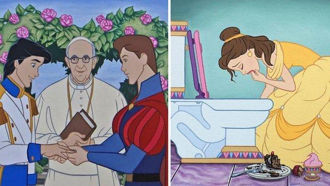 article thumbnail 17 1.jpg?resize=648,365 - 還我美好的童年回憶!當迪士尼卡通人物生活於現代社會中 #19 我不相信白馬王子都是整形來的~(泣)