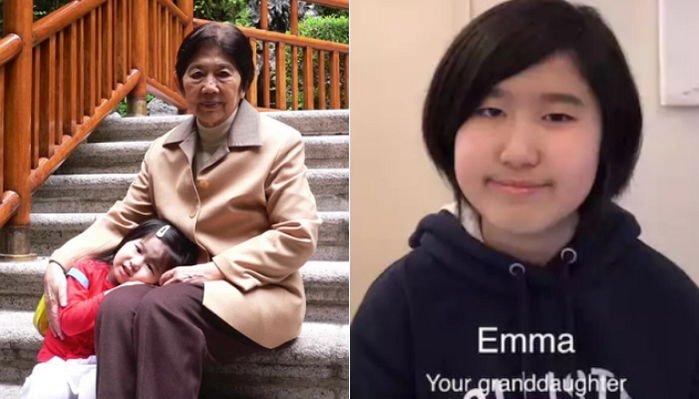 autq4p58330z50hn739w.jpg?resize=1200,630 - 認知症のおばあちゃんに自分の顔を覚えていてほしいと特別なプレゼントを用意した14歳の孫娘