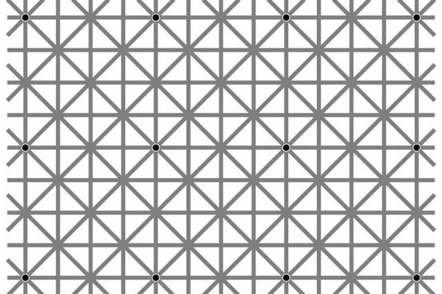 can you see all the black dots at once 20171226163828 20 - 【テスト】「黒い点12個、一目で見えますか?」(錯視注意)