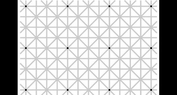 can you see all the black dots at once 20171226163945 6 - 【テスト】「黒い点12個、一目で見えますか?」(錯視注意)