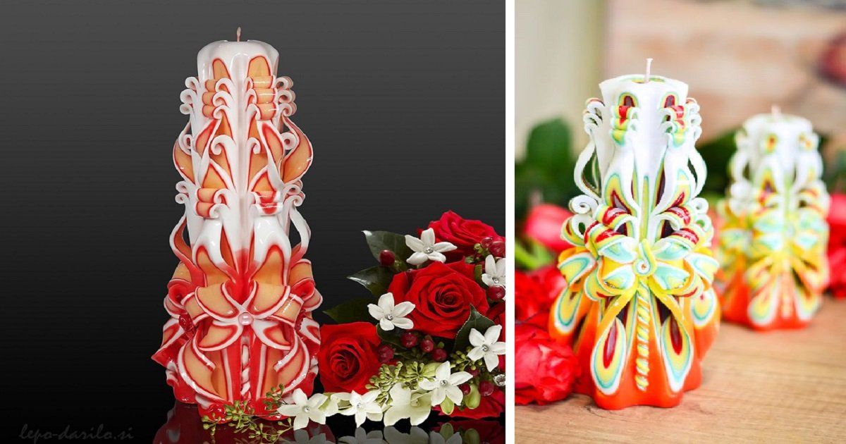Source: Carved candle buy in Slovenia, Pinterest