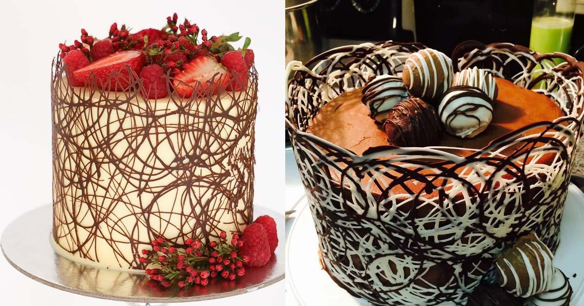 chococake.jpg?resize=1200,630 - Decore seu bolo como um profissional com essa linda borda de chocolate!