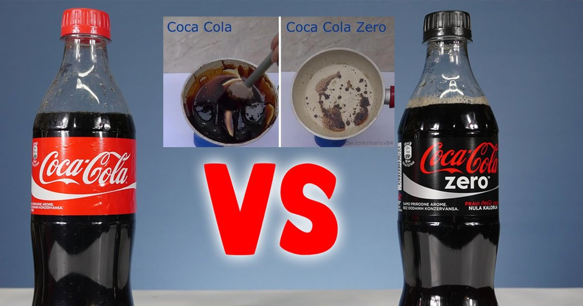 coke.jpg?resize=1200,630 - Esse experimento com Coca-Cola normal e Coca Zero revela um resultado preocupante sobre os níveis de açúcar