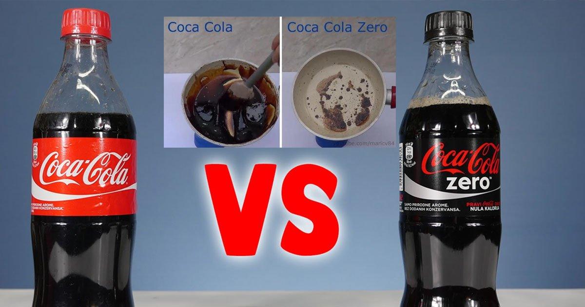 coke - Esse experimento com Coca-Cola normal e Coca Zero revela um resultado preocupante sobre os níveis de açúcar