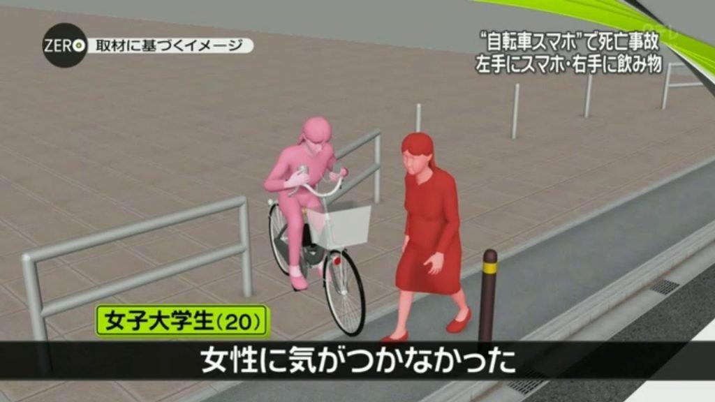 自転車スマホ 事故