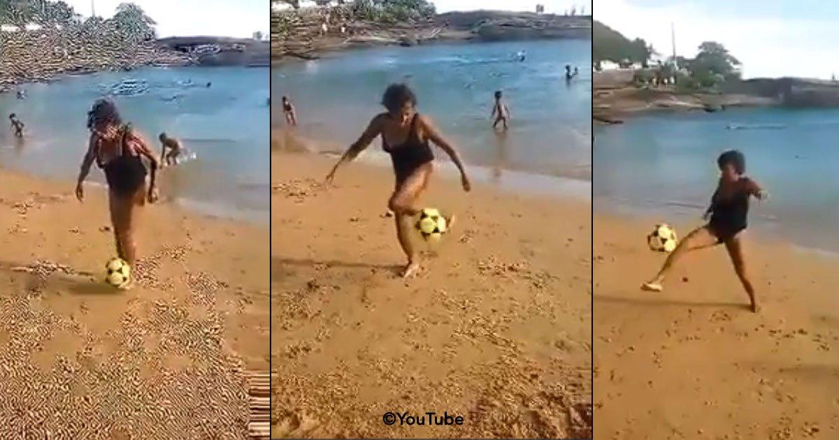 cover 20 - Una abuela brasileña dejo perplejos a todos en la playa al dominar el balón.