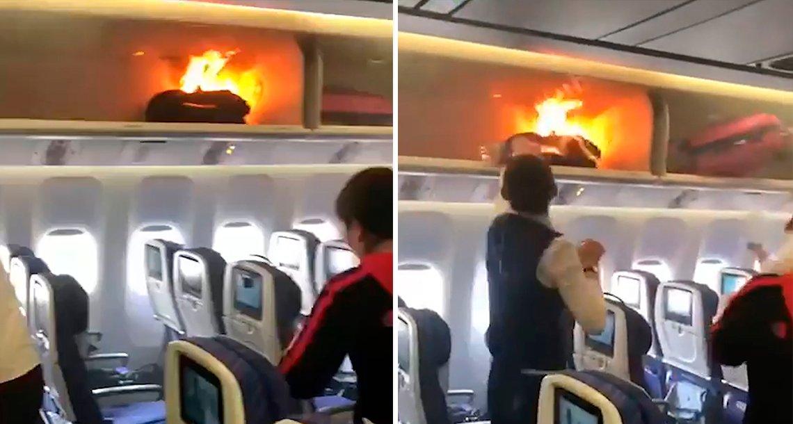 cover 4fuego.png?resize=1200,630 - Un cargador de batería de teléfono móvil causó un incendio dentro de un avión