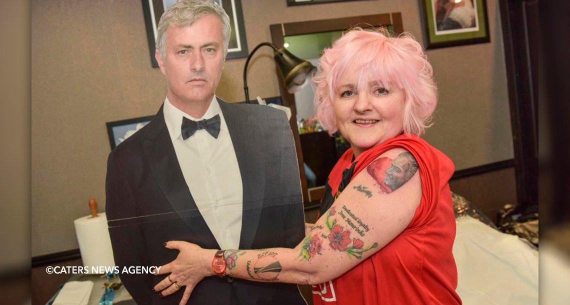 cover 4mau.png?resize=1200,630 - Mujer de 60 años se hizo más de 30 tatuajes de su ídolo José Mourinho