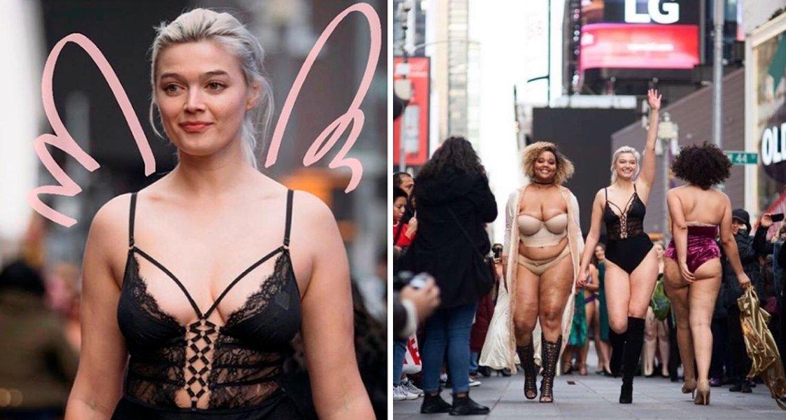 """cover 4mod.png?resize=412,232 - Con sus curvas y celulitis las """"anti ángeles"""" enfrentaron a las modelos de Victoria's Secret"""