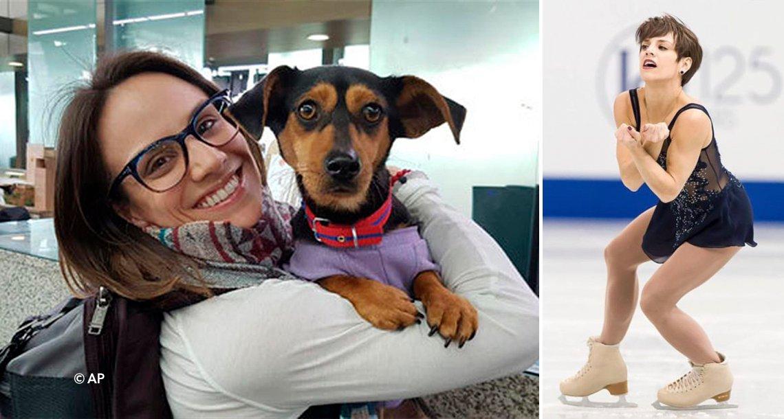 cover 4pati - Este perro iba a ser cocinado, pero una patinadora olímpica lo rescató
