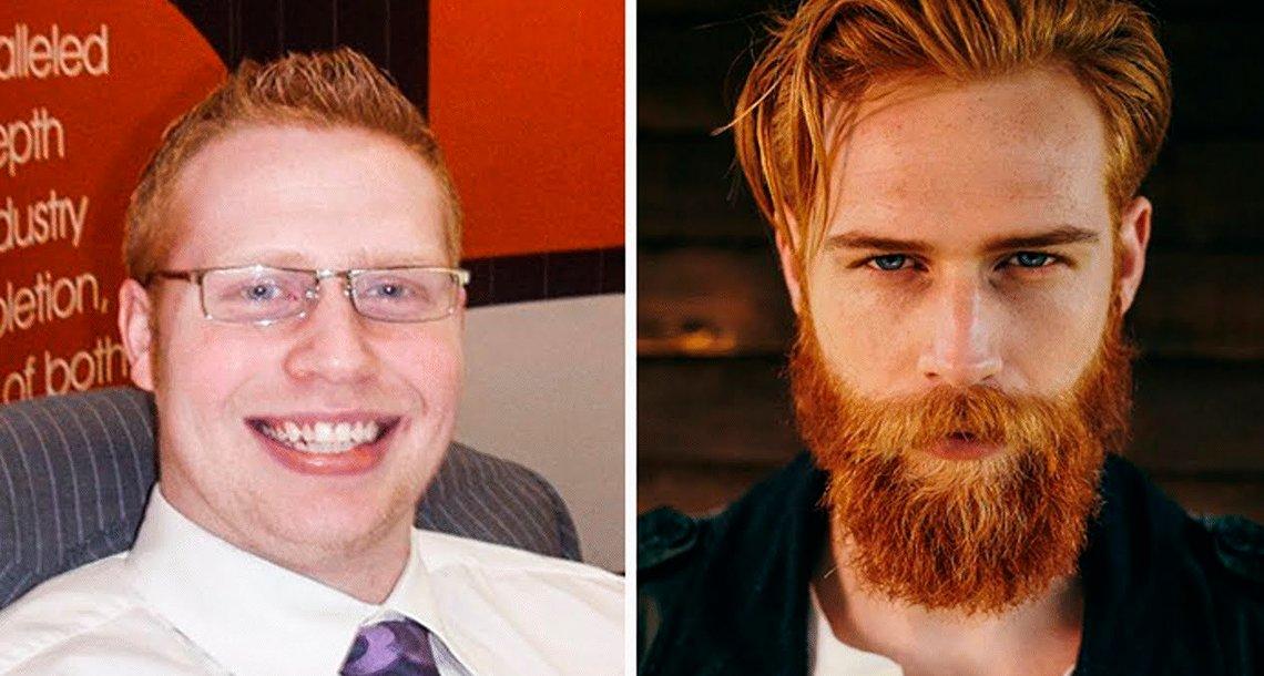 cover 4pelirroojoa.png?resize=1200,630 - Este hombre adelgazó, se dejó la barba y hoy es un supermodelo