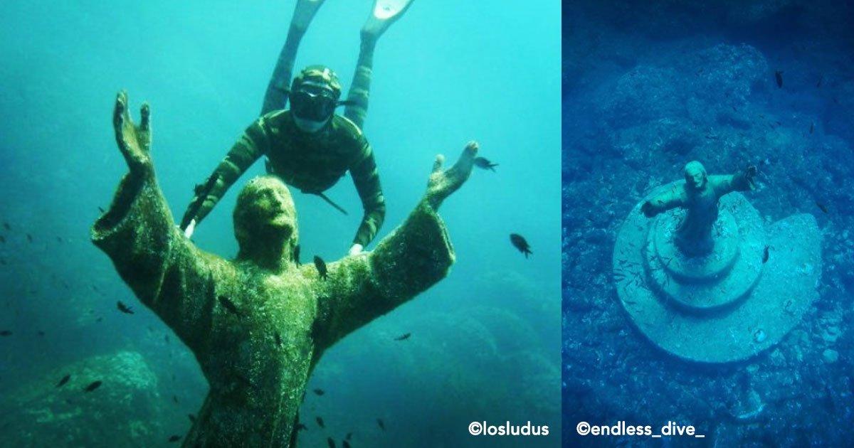 cover 75.jpg?resize=1200,630 - En las profundidades del mar una estatua de Jesús extiende sus brazos ¡Conoce la historia del Cristo del abismo!