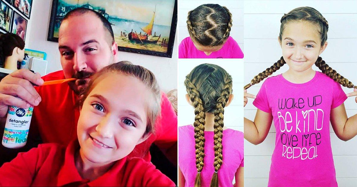 coverssas.png?resize=1200,630 - Padre soltero aprende a peinar a su hija con estilo y pone su escuela para que otros papás aprendan