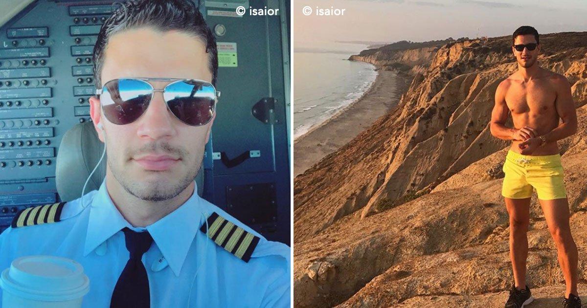 covert - Fotos sensuais do piloto mais bonito do mundo chamaram a atenção do cantor Ricky Martin