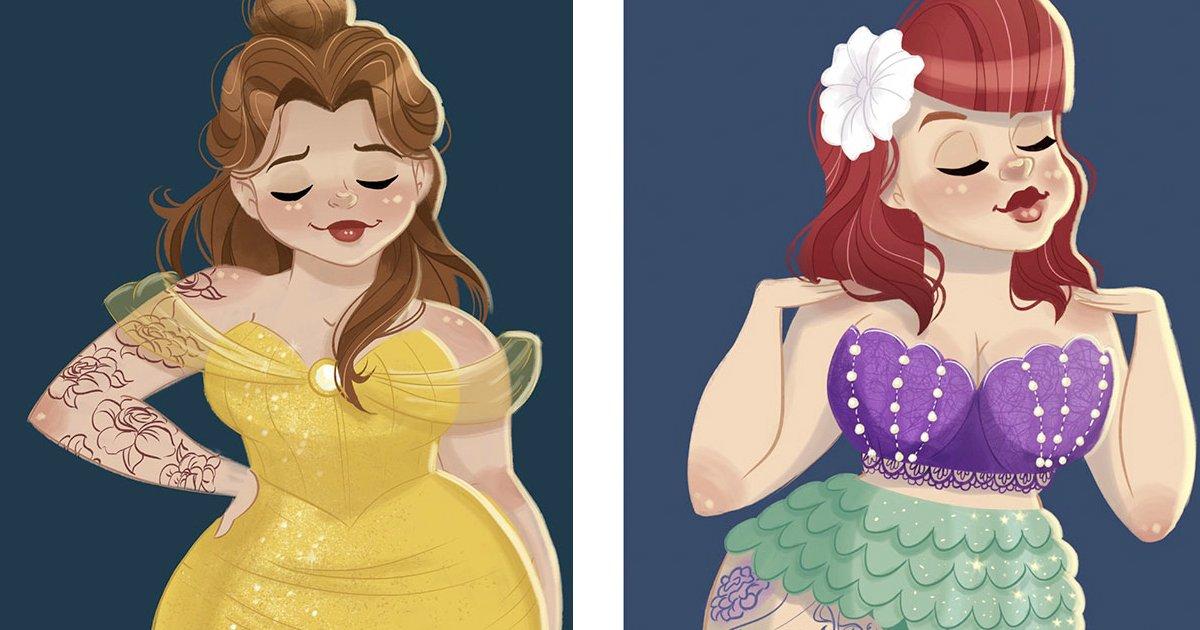 curvy.jpg?resize=1200,630 - Mulher se irrita com críticas às proporções das princesas da Disney e sua reação viraliza na Internet!