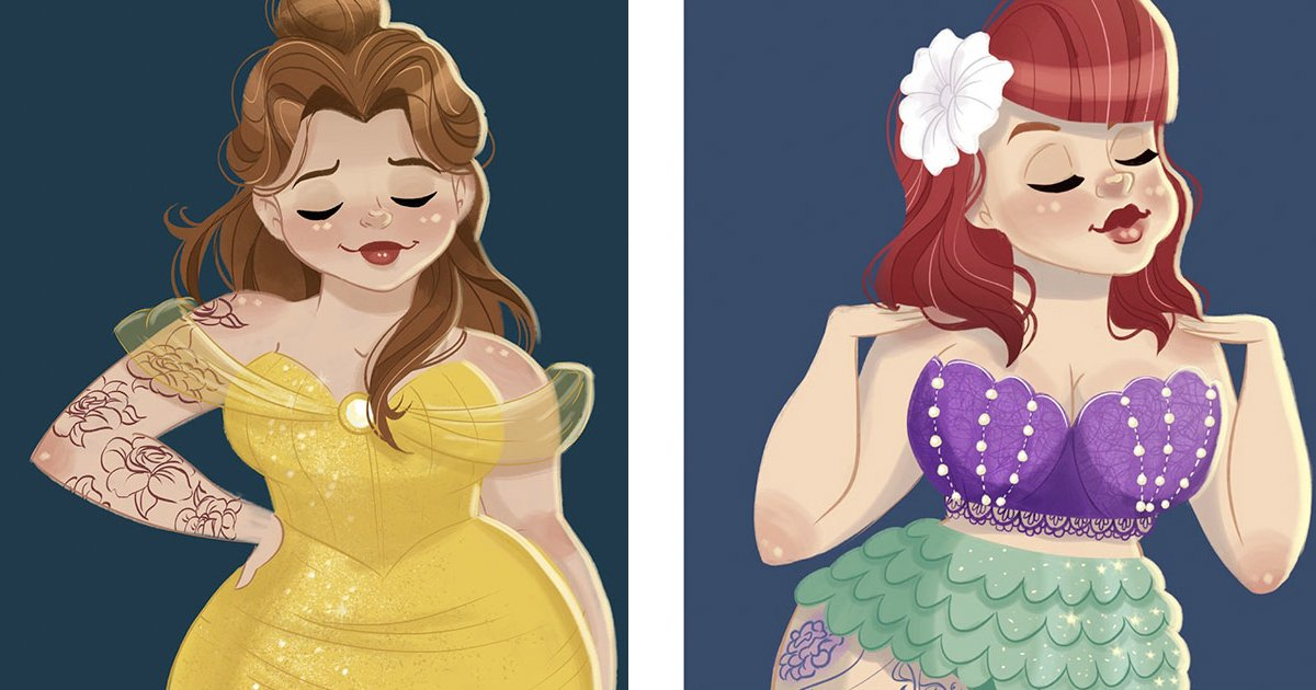 curvy - Mulher se irrita com críticas às proporções das princesas da Disney e sua reação viraliza na Internet!