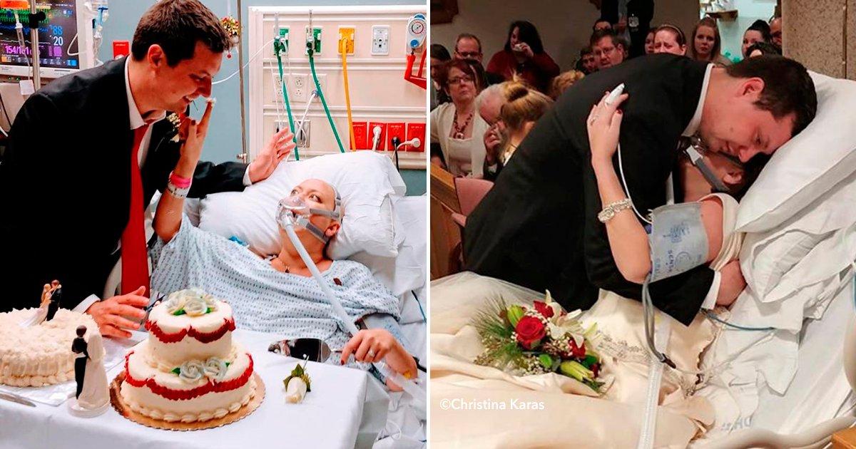 dddd.png?resize=648,365 - Una pareja decide casarse aunque ella estaba a punto de morir de cáncer, 18 horas después él quedó viudo.