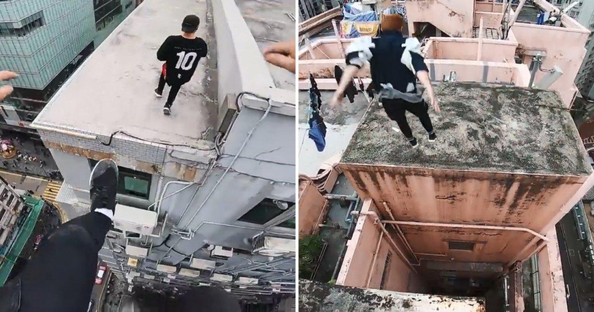 e38587e38581.png?resize=1200,630 - 인터넷에서 화제인 빌딩 사이를 점프하는 영상을 찍는 사람들 (영상)