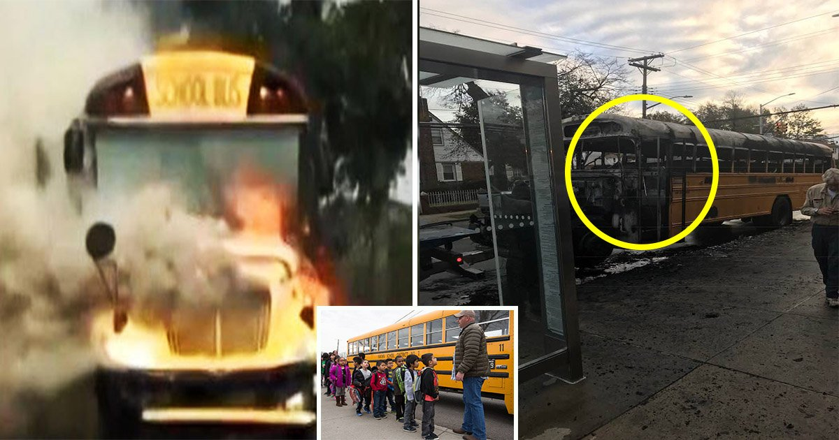 eba788eca780eba789 ec8db8eb84ac ed9e88ed9e88 - Driver's Quick Response Saves Students From their School Bus when it Goes Up in Flames