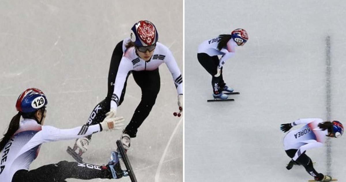 ebacb4eca09c 1 ebb3b5ec82ac 28.jpg?resize=648,365 - 넘어졌는데도 '올림픽 기록' 세운 소름 돋는 '여자 쇼트트랙 3000m 계주' 준결승전 (영상)