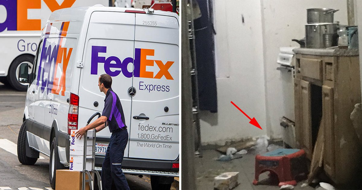 ec98a4eb8a98 eba788eca780eba789 - FedEx Worker Approaches an Apartment to Deliver a Package. Finds a Toddler Alone, Living in a Vermin Infested Environment