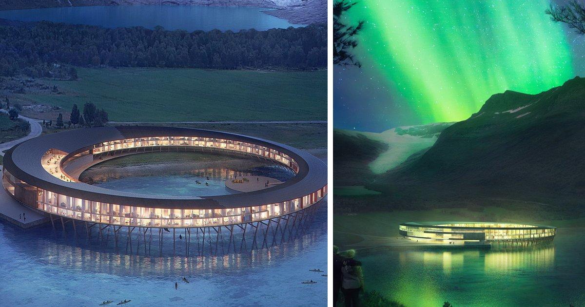 ee.png?resize=1200,630 - Hotel futurista com design de nave espacial terá visual de tirar o fôlego de geleiras e aurora boreal