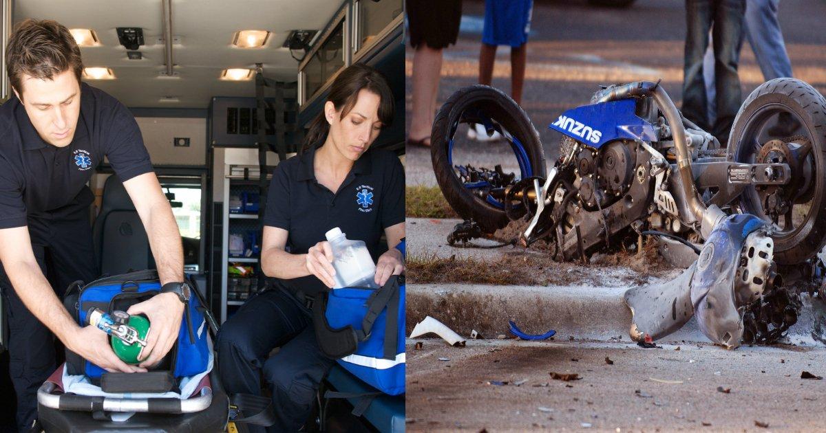 emt.jpg?resize=300,169 - Teenage Boy Becomes EMT After Saving Biker From Death