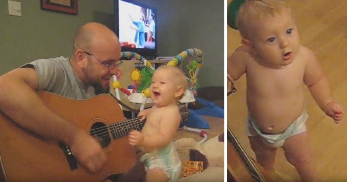 f3h - Father Plays Bon Jovi Song To His Baby Girl And Finds Out She Has Secret Talent