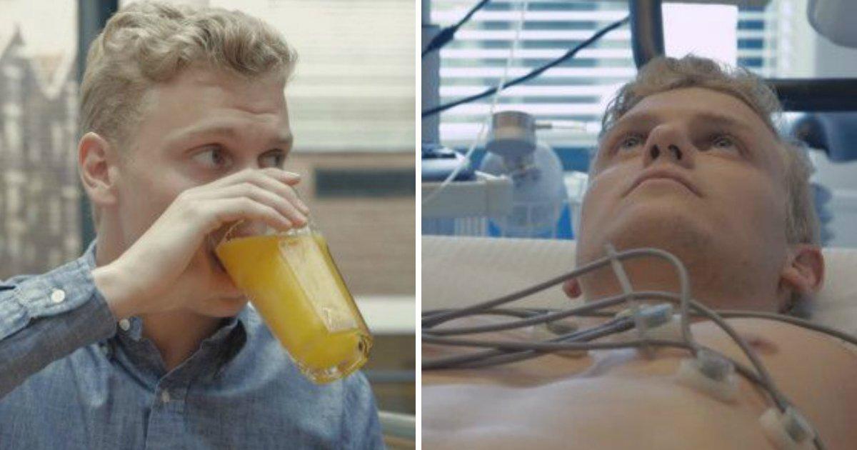 holrandesa - Garoto holandês passa um mês sem álcool e açúcar e mostra o que aconteceu com o seu corpo