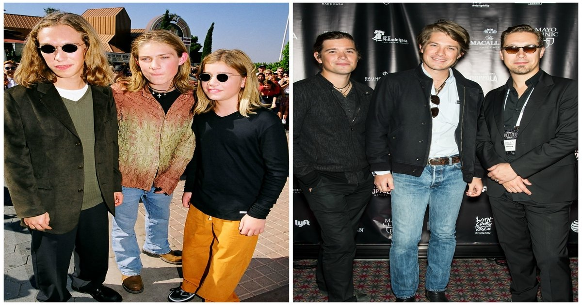 hs3 - Years Later, the Hanson Brothers Have Grown into Elegant Dads with a Dozen Kids between Them