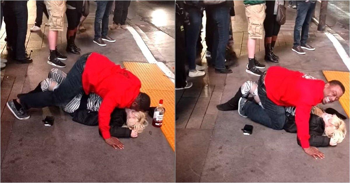 img 5a7bb79c1bfe5.png?resize=1200,630 - 酔っぱらって倒れている女性にキスした正体不明の男